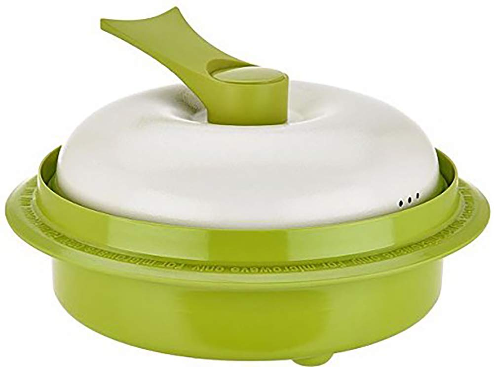 "Range Mate Pro Deluxe Nonstick Microwave 5-in-1 Grill Pot/Pan Cookware Set""As Seen On TV"" (Grill, Bake, Roast, Saute, Steam, Poach, One Pot Meals) (green)"
