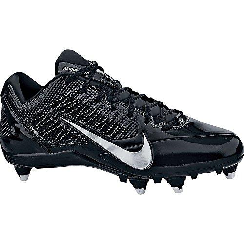 Nike_ Herren Alpha Pro TD Fußballschuh Schwarz /// Metallic Silber
