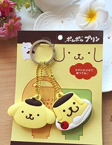 CJB Lovey Pompom Purin Keychain Set of 2 Yellow (US Seller) by CJB KT