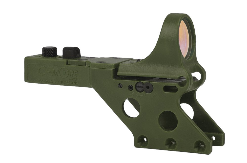 C-MORE Systems Serendipity Red Dot Sight with Click Switch (Frame Width: .750-Inch), Olive Drab Green, 2 MOA