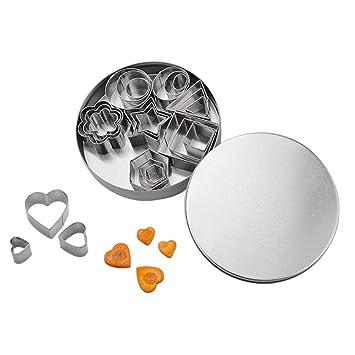 Starmood - Molde para repostería (24 piezas, acero inoxidable): Amazon.es: Hogar