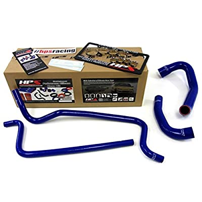 HPS 57-1292-BLUE Blue Silicone Radiator Coolant/Heater Hose Kit: Automotive