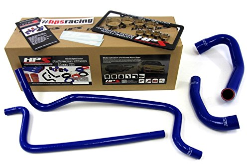 HPS 57-1292-BLUE Blue Silicone Radiator Coolant/Heater Hose Kit