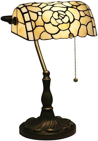 Tiffany Style Lámpara de Banquero Lámpara de Mesa Barroco Europeo ...