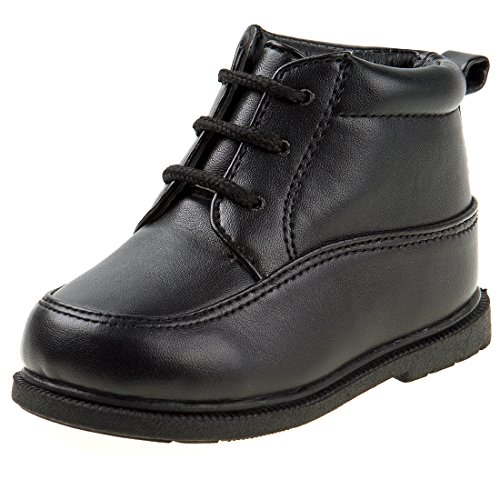 Josmo Boy\'s Walking High Top Dress Shoe, Black, 6 M US Toddler'