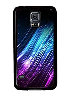 Abstract The Light of Blue and Purple DIY Hard Shell Black Samsung Galaxy S5 I9600 Case Perfect By Custom Service