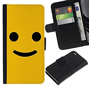 All Phone Most Case / Oferta Especial Cáscara Funda de cuero Monedero Cubierta de proteccion Caso / Wallet Case for Apple Iphone 4 / 4S // Funny Happy Smile Smiley Face