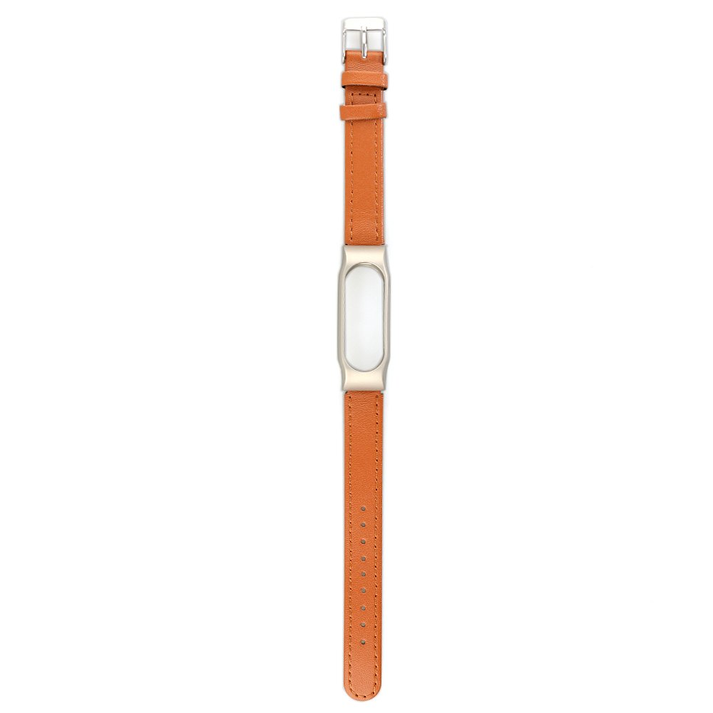 VAN Xiaomi Mi Band 2 Wristband Metal Leather Strap Bands For Mi Band 2 Smart MiBand Replacement Bracelet