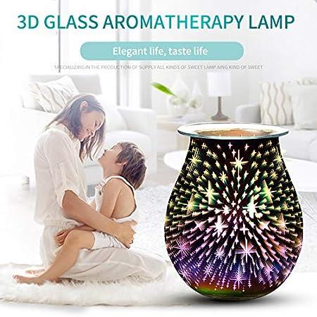 Star Star Night Light Wax Warmer for Home Office Bedroom Living Room Gifts /& Decor PopHMN 3D Aroma Lamp Electric Wax Melt Burner