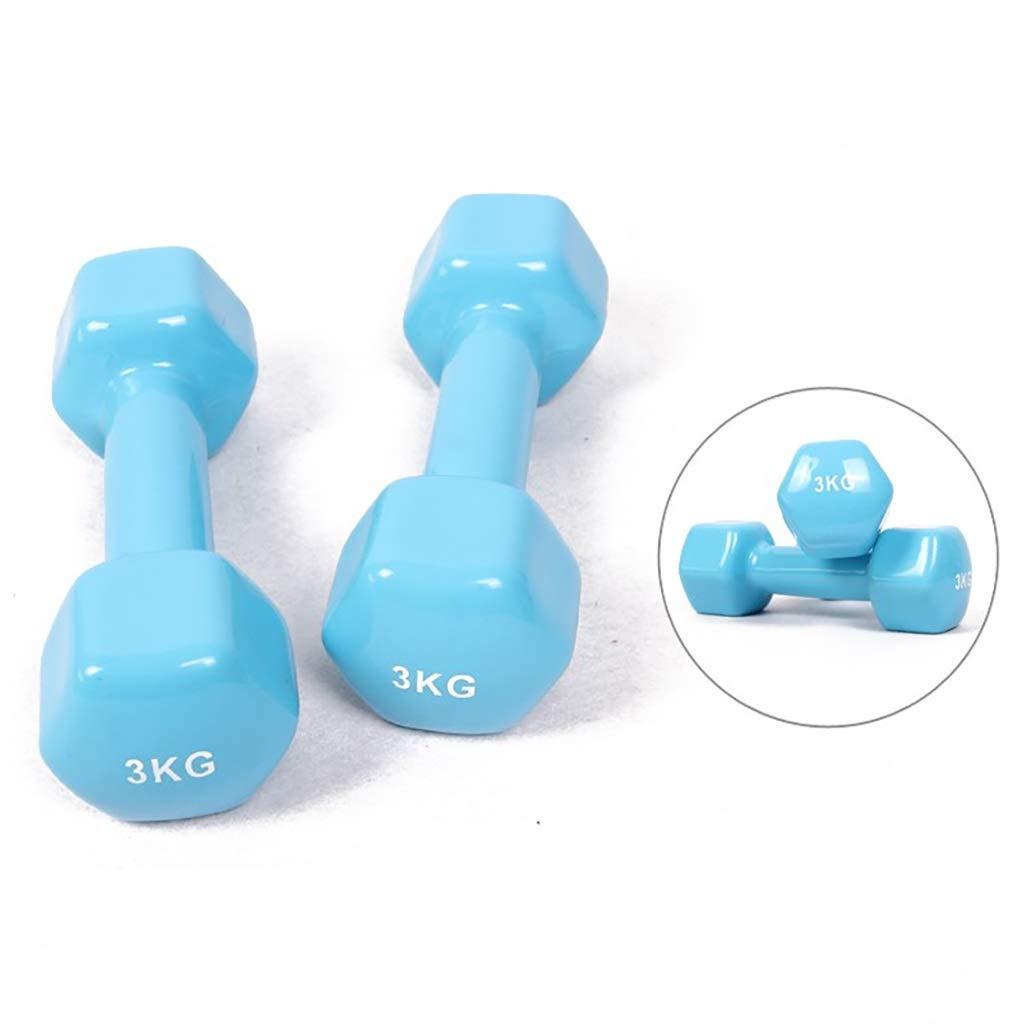 WSC Haltères Hex, Muscles du Bras d'entraînement, Fonte de Fer Pur, Prise Confortable (Taille   2.5KG) 2KG