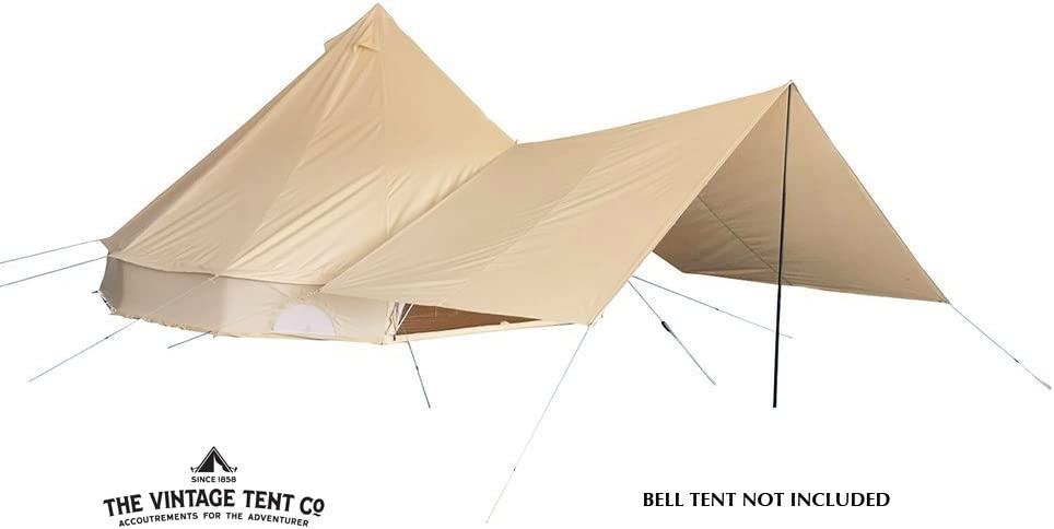 Bell Tent Awning | Glamping Awning Luxury Canvas Awning