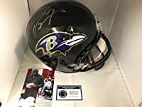 Ray Lewis Autographed Signed Baltimore Ravens Full Size Helmet Radtke Sports COA & Hologram W/Photo Of Signing
