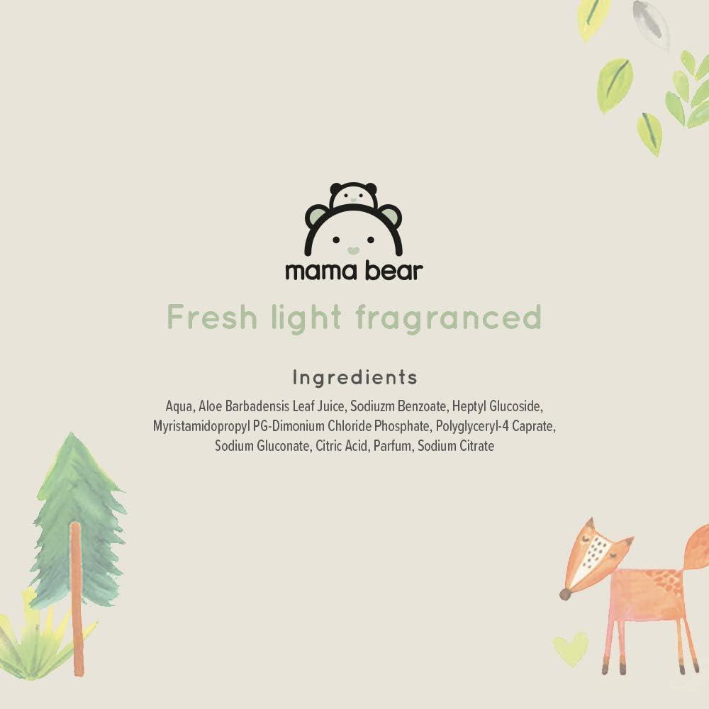Pack de 18 Mama Bear Fresh Lingettes parfum/ées pour b/éb/é Marque 1008 lingettes