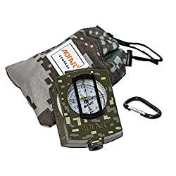 AOFAR Military Compass AF-4580 Lensatic Sighting Navigation,...