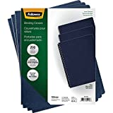 Fellowes Linen Presentation Covers, 11-1/4-Inch x 8-3/4-Inch, Navy, 200-Pack (52113)