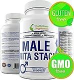 * Prime * Male VITA Stack * Gluten Free,Libido Booster for Men,Prostate Complex,Daily Vitamin Complex,Mens Multivitamin, Mens One A Day Multivitamin,Male Libido Enhancement,Male Fertility Supplements