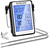 Best Dual Probe Thermometers - KTKUDY Dual Probe Digital Meat Thermometer with Super Review