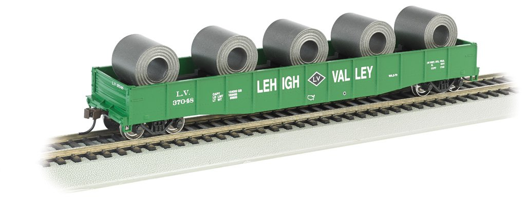 Bachmann Industries 50'6'' Load Lehigh Valley Drop End Gondola with Steel Coil (HO Scale Train)