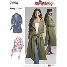 Simplicity Pattern 8554 Misses' and Miss Petite Coats and Jackets Size 6-14 Sewing Pattern