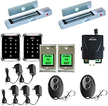 FPC-5008 Two door Access Control Outswinging Door 300lb Electromagnetic Lock Kit