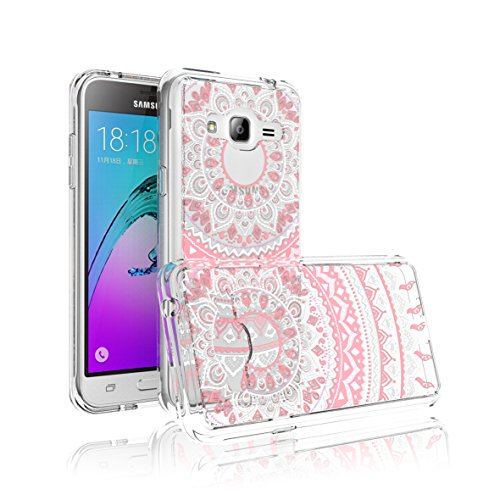 Galaxy J3 / J3 V / Sol / Amp Prime Case For Girls Bestselling [PAINTING] Transparent lovely painting patterns Slim clear hard TPU skin scratch bumper Cases For Samsung Galaxy Express Prime-Pink