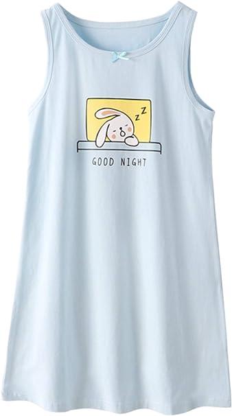HOYMN camisón de algodón para niñas de 3 a 12 años: Amazon.es ...
