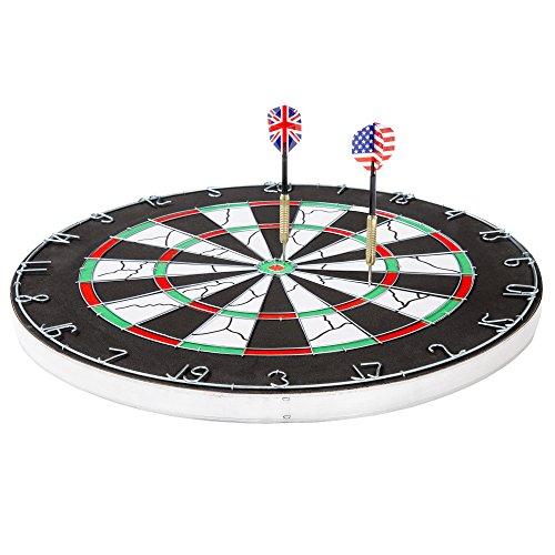 18 Double-Sided Flocking Dartboard - Six Darts