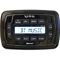 Infinity PRV250 AM/FM Bluetooth Marine Stereo Receiver W/Aux & Waterproof Face Consumer Electronics