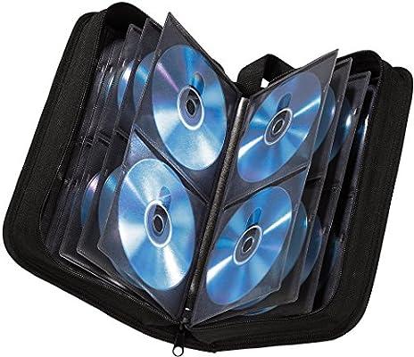 Hama - Estuche porta CD para 80 CD/DVD/Blu-rays, portafolios para guardar CD, negro: Amazon.es: Informática