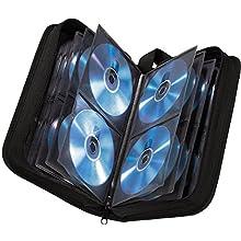 Hama - Estuche porta CD para 64 CD/DVD/Blu-rays, portafolios para guardar CD, negro