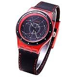 Fashion Students Boys Star Line Round Dial Analog Quartz School Wrist Watch