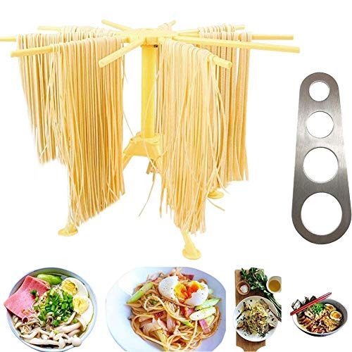 Lanting Foldable Pasta Drying Rack with Stainless Steel Past