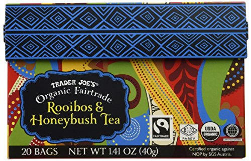 Trader Joe's Organic Fairtrade African Rooibos Honeybush Red Tea 20 Bags Herbal