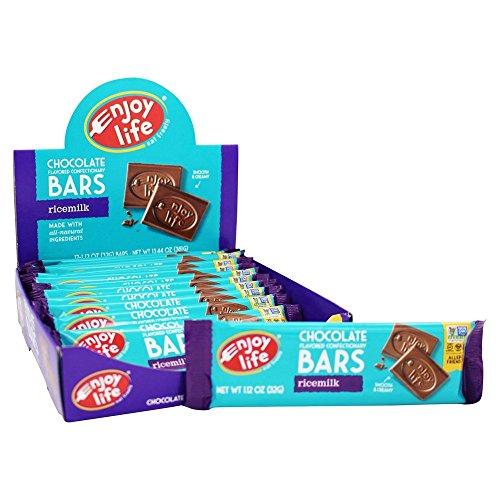 Rice Milk Chocolate - Enjoy Life, Bar Rice Milk Chocolate Dairy Free Gluten Free 12 Count, 1.12 Ounce