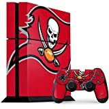 Skinit NFL Tampa Bay Buccaneers PS4 Console and Controller Bundle Skin - Tampa Bay Buccaneers Large Logo Design - Ultra Thin, Lightweight Vinyl Decal Protection