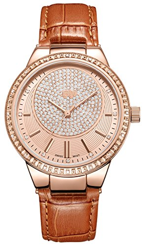 JBW Women's J6345D Camille 0.16 ctw 18k rose gold-plated stainless-steel Diamond Watch