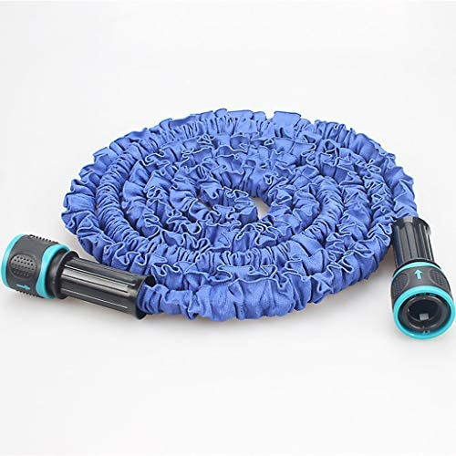 Zphy Garden Hose Expandable Water Pipe 3 Times Expanding Flexible Magic Hose Pipes Reel With 7 Function Spray/Brass Connector Fittings (Size : 10m)