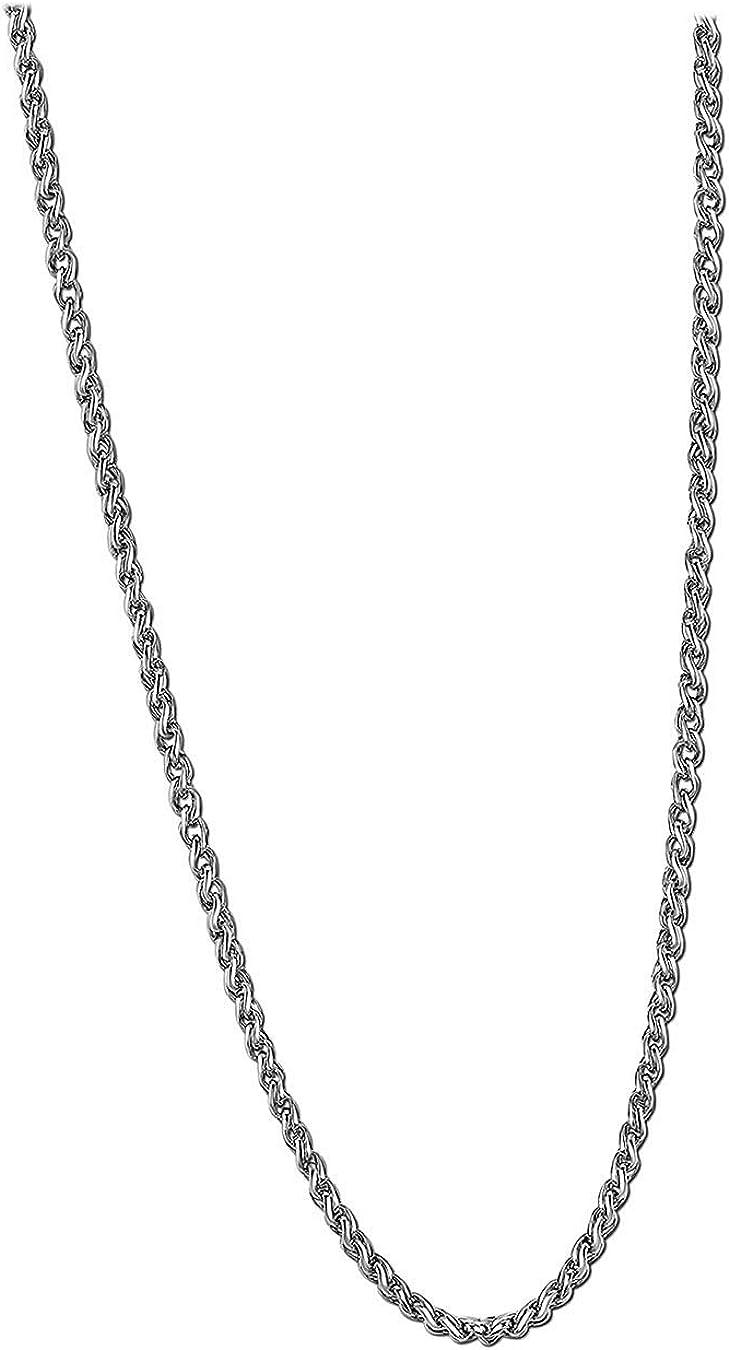 Lotus Style JLS1682 - Collar para hombre (acero inoxidable, 2 cm), color negro