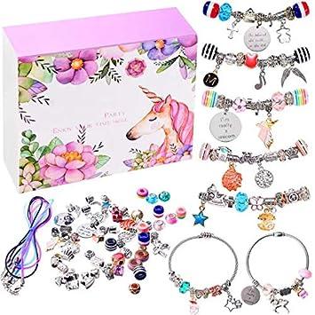 dadc8eccf9972 monochef DIY Charm Bracelet Making Kit, Jewelry Making Supplies Bead Snake  Chain Jewelry Gift Set for Girls Teens