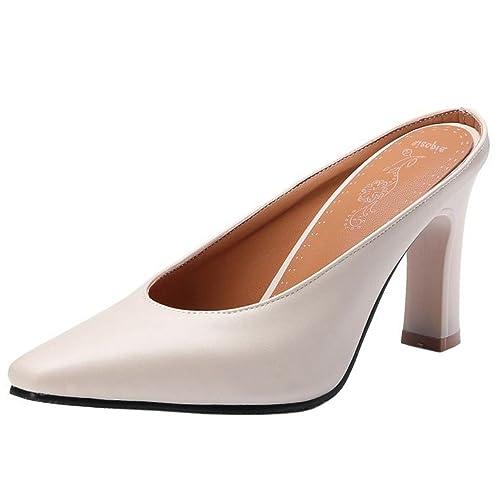 1cdc9238e Zanpa Femmes Mode Mules Chaussures Bout Ferme: Amazon.fr: Chaussures ...