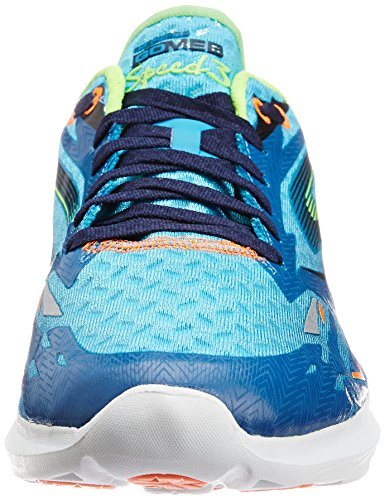 Skechers Go Meb Speed 3 Mens Running Shoes Blue / Lime uYljBsh