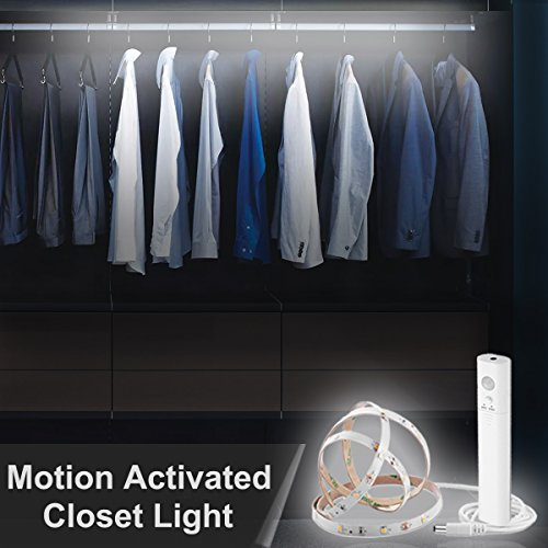 set Light, SMATIS Battery Operated Closet Light with Manual & Auto Dual Mode, for Stair, Cribe Baby Bed, Wardrobe. (Motion Activated Battery)