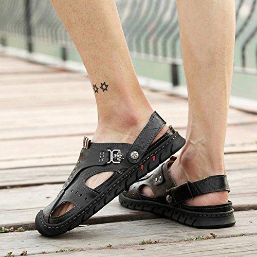 Uomo Traspiranti Indossabili A per da Antiscivolo Punta Sandali A Spiaggia Black DSFGHE Chiusa per Pantofole Piscine Scarpe Passeggio Estivi wtxYyXSqp