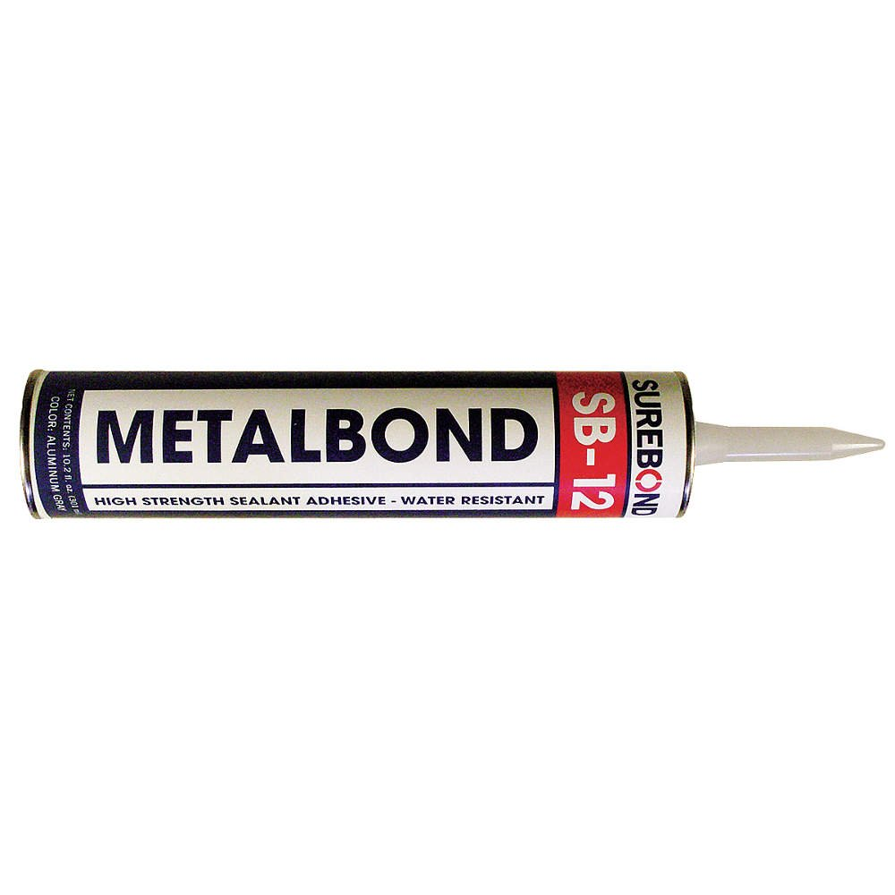 Surebond SB-12 Metal Bond Sealant, 10.3 oz Cartridge, Aluminum Gray