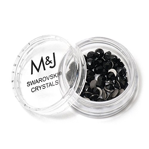- Swarovski Crystals Flat Back Rhinestones - 2088 Xirius Rose Round Foil Backed - SS20 (4.6mm-5mm) - Jet 280 (Black)