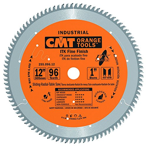CMT 255.096.12 ITK Industrial Fine Finish Saw Blade, 12-Inch x 96 Teeth 40° ATB Grind with 1-Inch Bore