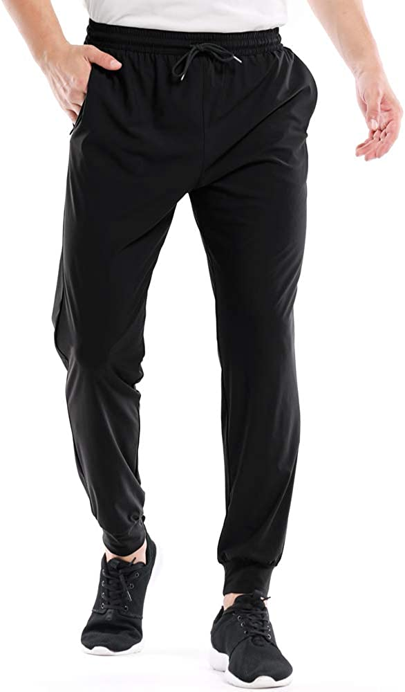 Running Pants Men Athletic Workout Jogger Sweatpants Quick Drying Lightweight Gym Training Track Pants with Pockets #6087
