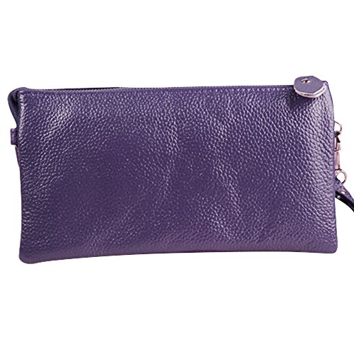 Lady Leather Women Purple Handbag Wallet Red Zipper New Card Wiwsi Purse Fashion Long Phone x6gA1qT