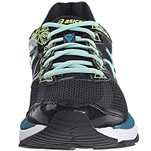 ASICS Women's GT-2000 4 Running Shoe, Black/Pool Blue/Flash Yellow, 8 M US