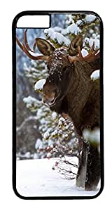 iPhone 6 Case, Snowy Moose Designer Rugged Hard Plastic Back Case Cover Protector for Apple iPhone 6(4.7INCH) PC Black